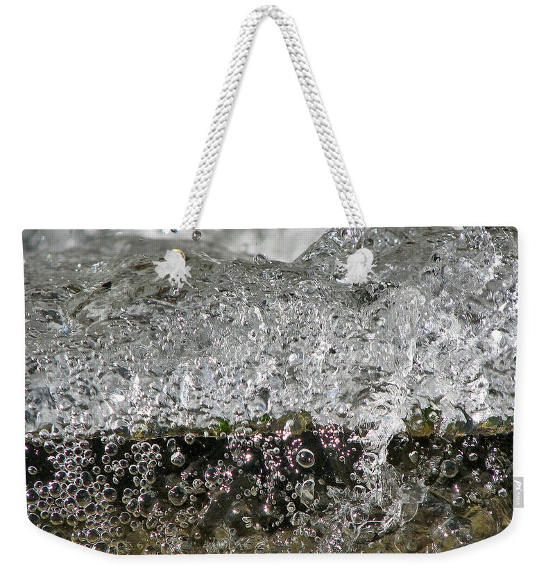 Bubble Falls Weekender Tote Bag featuring the photograph Bubble Falls by Lisa S Baker