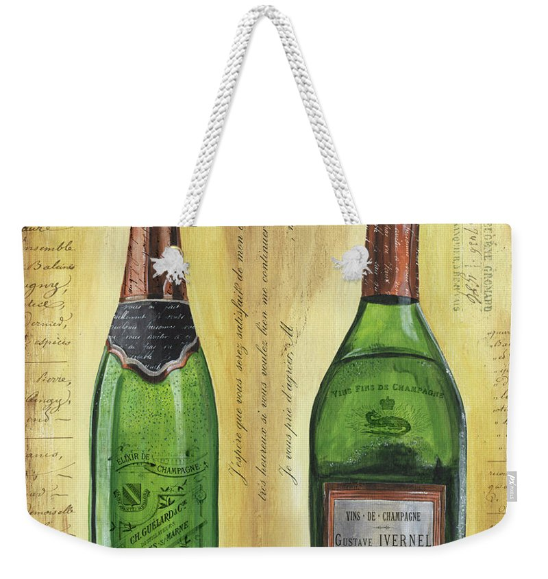 Champagne Weekender Tote Bags