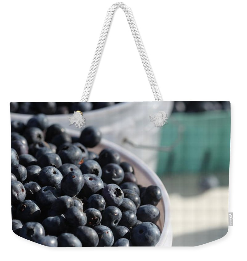 Blue Weekender Tote Bag featuring the photograph Buckets Of Blue... by Nadine Rippelmeyer