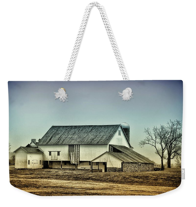 Bucks County Weekender Tote Bag featuring the photograph Bucks County Farm by Bill Cannon