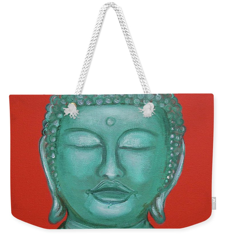 Buddah Weekender Tote Bag featuring the painting Buddah I by Sue Wright