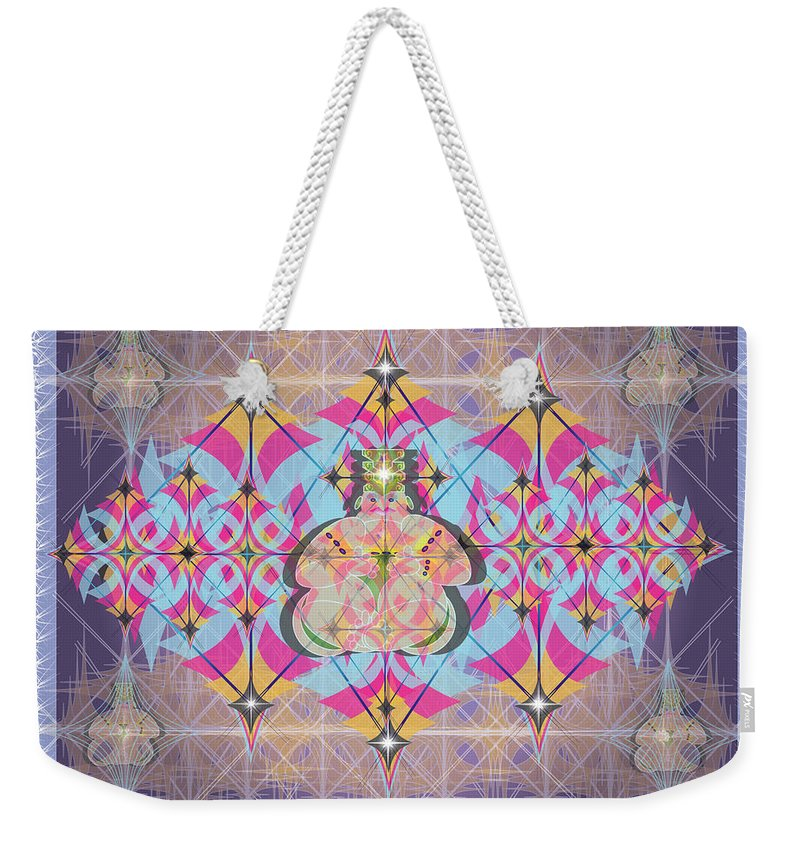 Abstract Weekender Tote Bag featuring the digital art Buddah II by George Pasini
