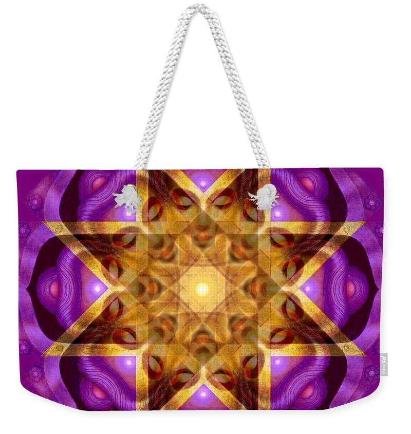 Buddha Weekender Tote Bag featuring the painting Buddha Mandala by Sue Halstenberg