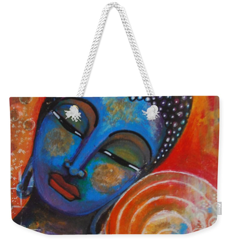 Buddha Weekender Tote Bag featuring the painting Buddha by Prerna Poojara