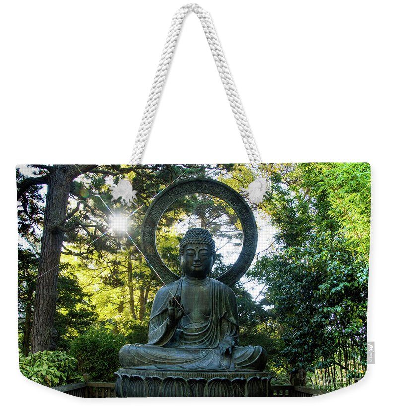 Tinas Captured Moments Weekender Tote Bag featuring the photograph Buddha by Tina Hailey