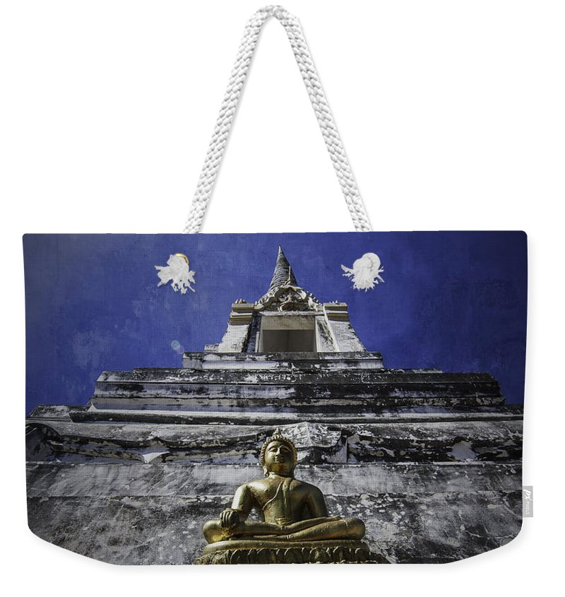 Buddha Weekender Tote Bag featuring the photograph Buddha Watching Over by Dylan Newstead