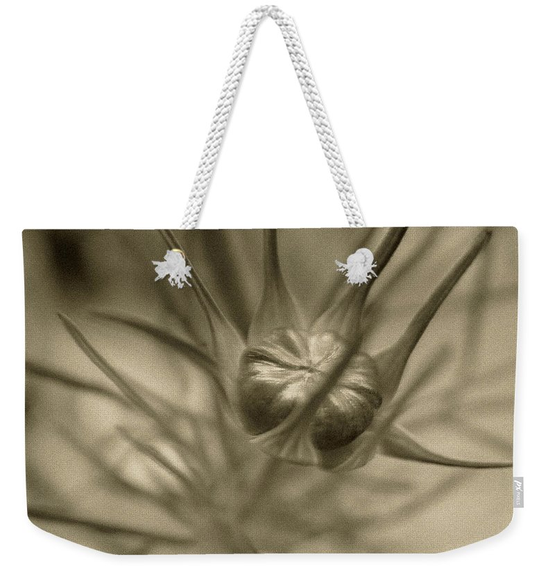 Bud Weekender Tote Bag featuring the photograph Budding Beauty by RC DeWinter