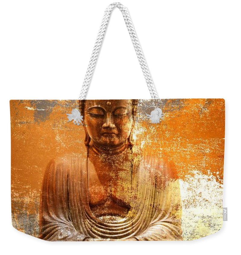 Alicegipsonphotographs Weekender Tote Bag featuring the photograph Budha Textures by Alice Gipson
