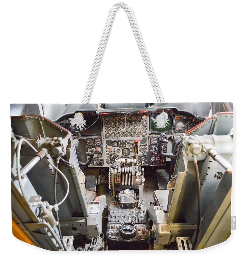 California Weekender Tote Bag featuring the photograph Buff Cockpit by Tommy Anderson