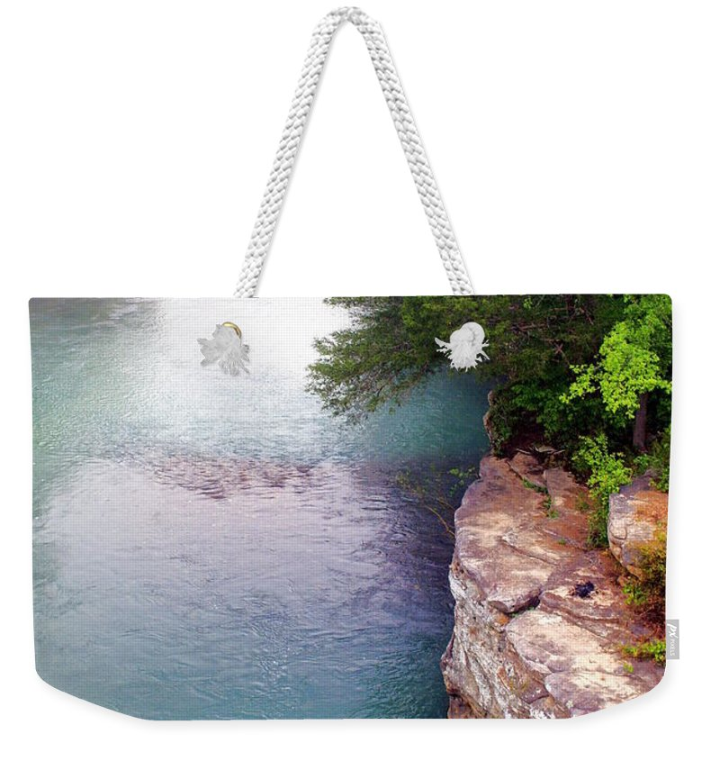Ozarks Weekender Tote Bag featuring the photograph Buffalo River Mist by Marty Koch