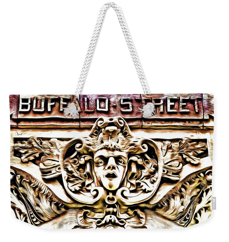 Street Weekender Tote Bag featuring the photograph Buffalo Street by Robb Shaffer