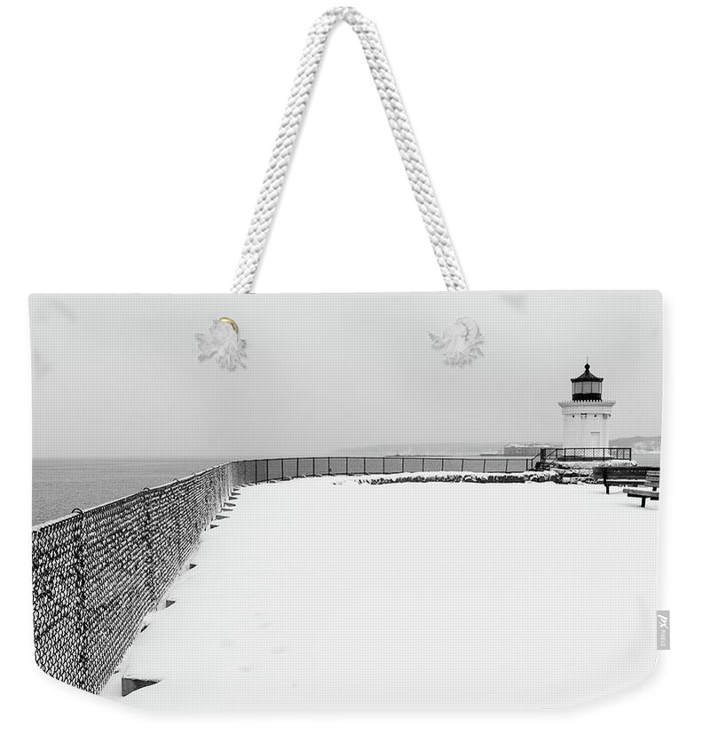 Tree Weekender Tote Bag featuring the photograph Bug Light Park by Marlon Mullon