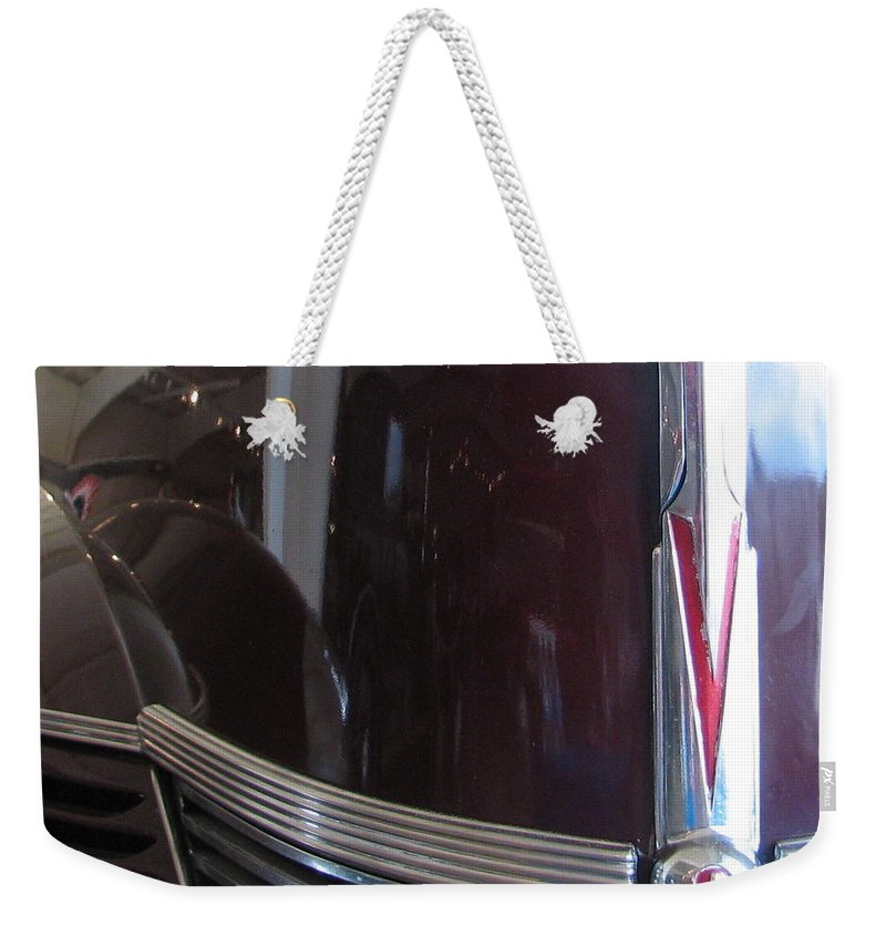 Buick Weekender Tote Bag featuring the photograph Buick 8 by Kelly Mezzapelle