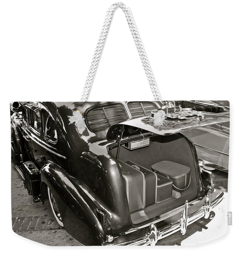 Photograph Weekender Tote Bag featuring the photograph Buick Road Trip by Gwyn Newcombe