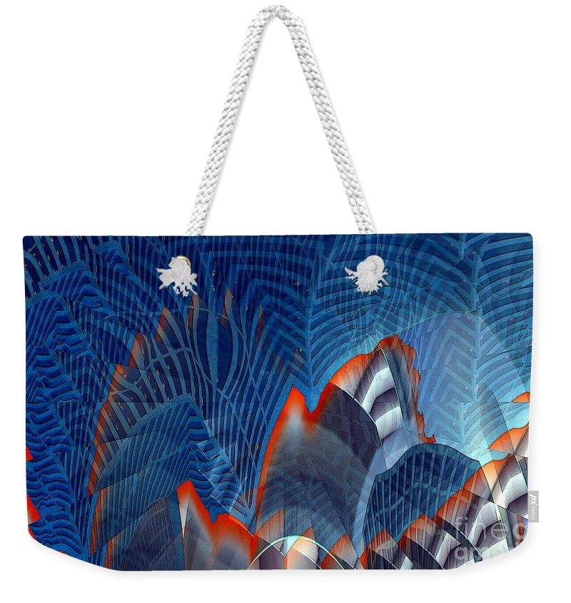 Dgital Art Weekender Tote Bag featuring the digital art Buildingscape by Ron Bissett