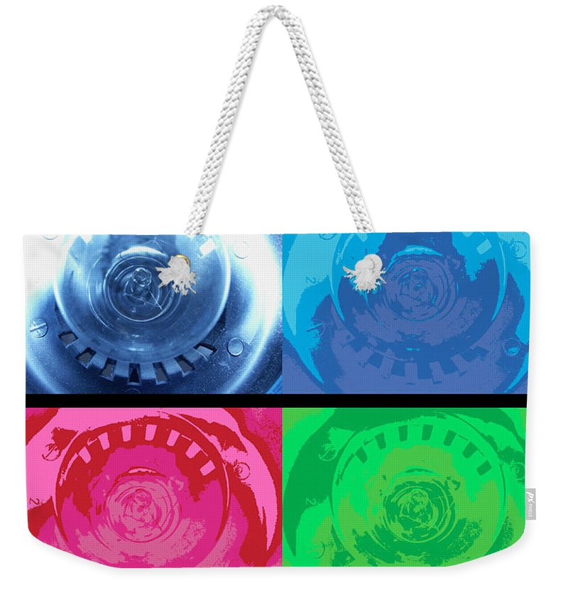 Abstract Weekender Tote Bag featuring the photograph Bulbs In The Style Of Warhol by Scott Wyatt