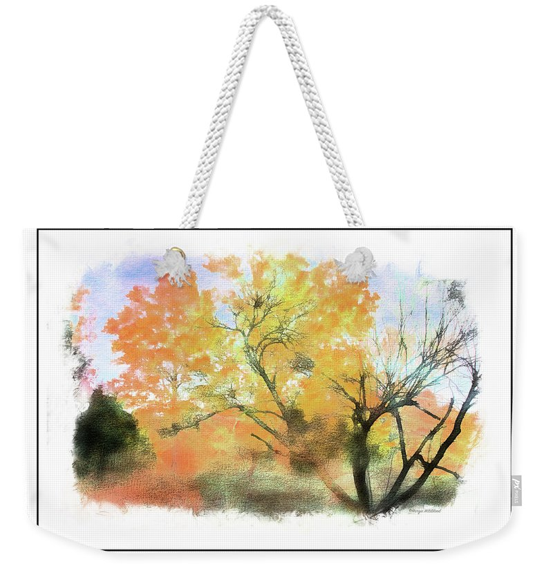 Fall Weekender Tote Bag featuring the photograph Bull Run Autumn by Margie Wildblood