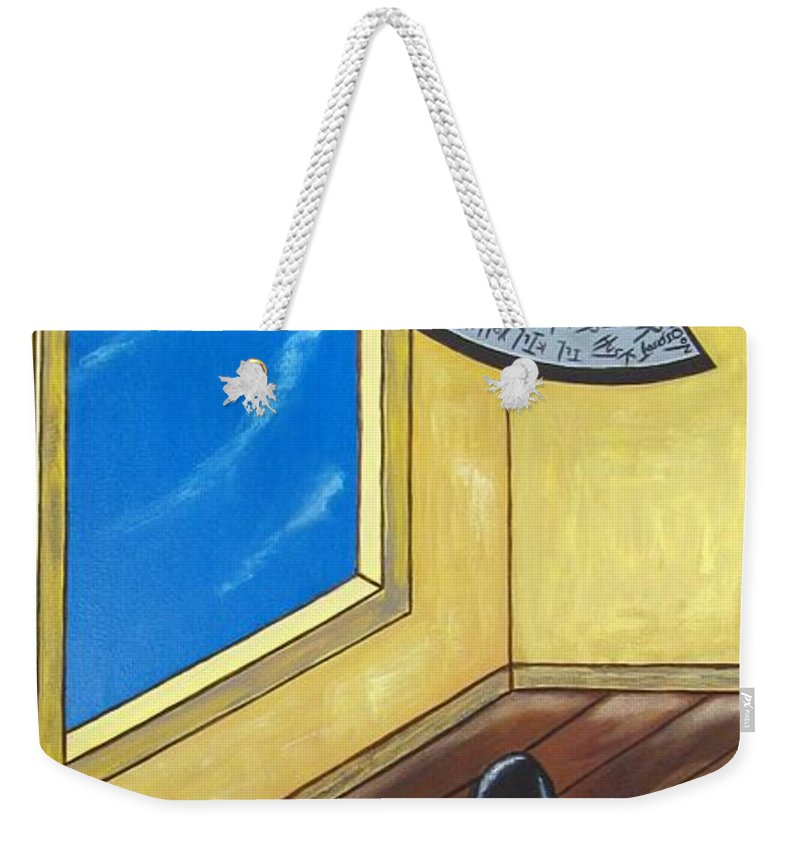 Violence Weekender Tote Bag featuring the painting Bully by Sandra Marie Adams