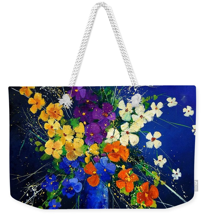 Poppies Weekender Tote Bag featuring the print Bunch 0408 by Pol Ledent