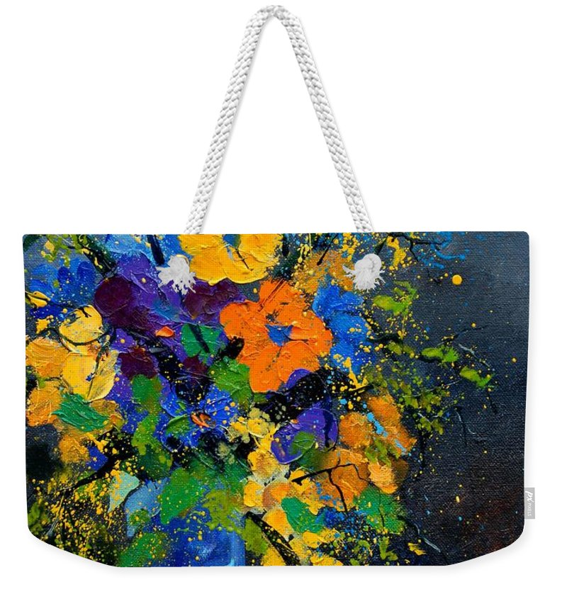 Poppies Weekender Tote Bag featuring the painting Bunch 1007 by Pol Ledent