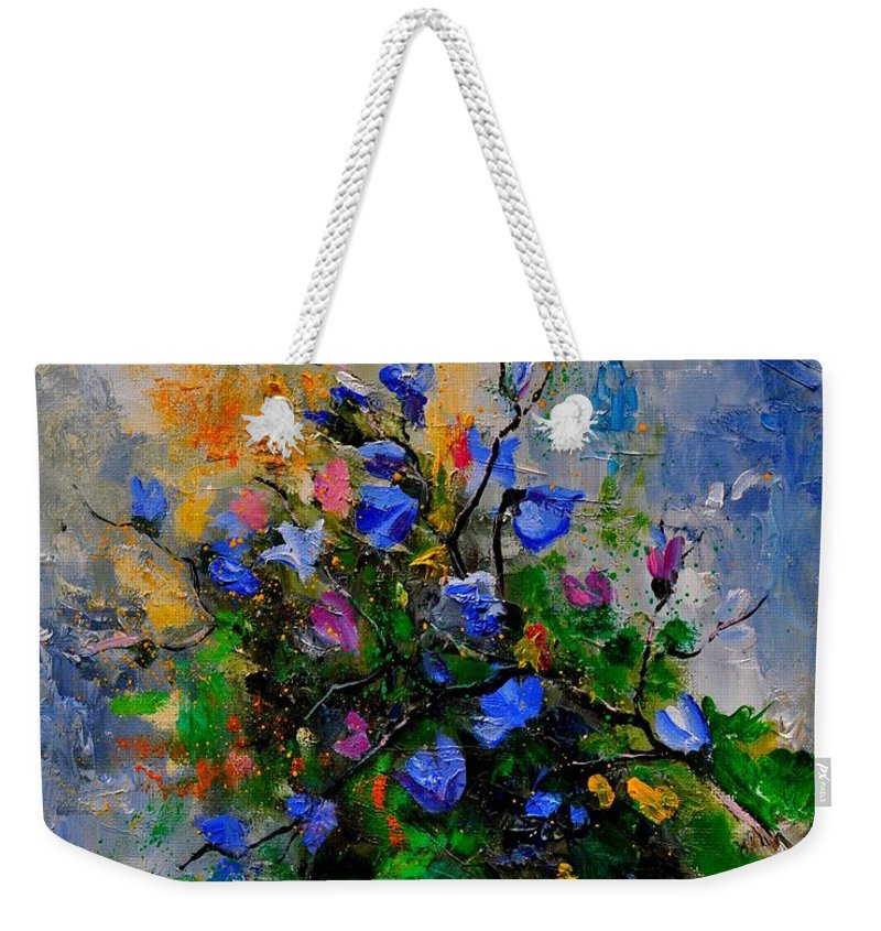 Flowers Weekender Tote Bag featuring the painting Bunch 451130 by Pol Ledent