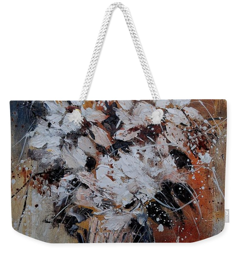 Flowers Weekender Tote Bag featuring the painting Bunch 45900140 by Pol Ledent