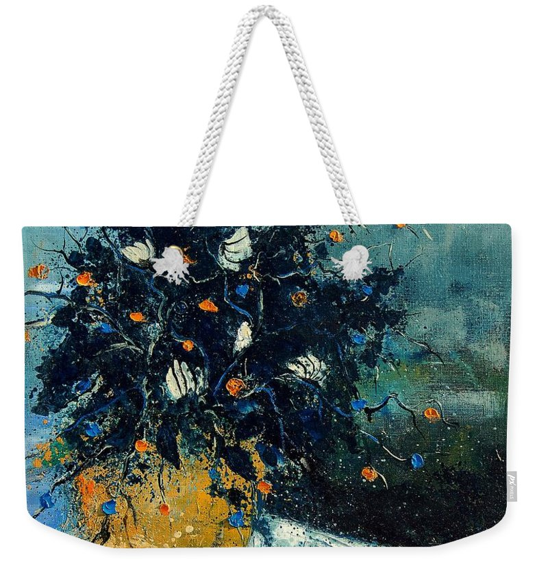 Flowers Weekender Tote Bag featuring the painting Bunch 56124587 by Pol Ledent