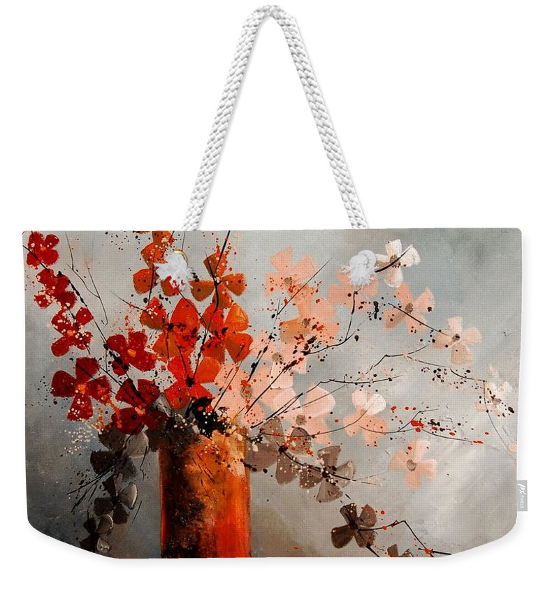 Flowers Weekender Tote Bag featuring the painting Bunch 670908 by Pol Ledent