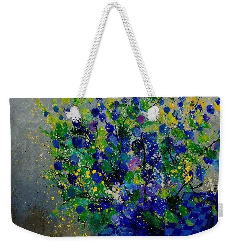 Flowers Weekender Tote Bag featuring the painting Bunch 9020 by Pol Ledent