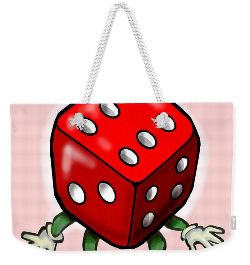 Bunco Weekender Tote Bag featuring the greeting card Bunco by Kevin Middleton