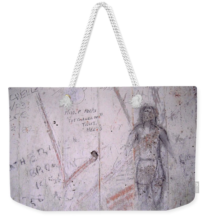 England Weekender Tote Bag featuring the photograph Bunker Graffiti by Julia Raddatz
