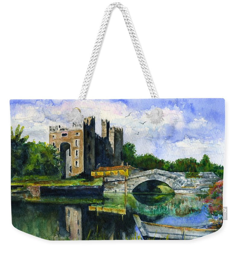 Bunratty Weekender Tote Bag featuring the painting Bunratty Castle by John D Benson