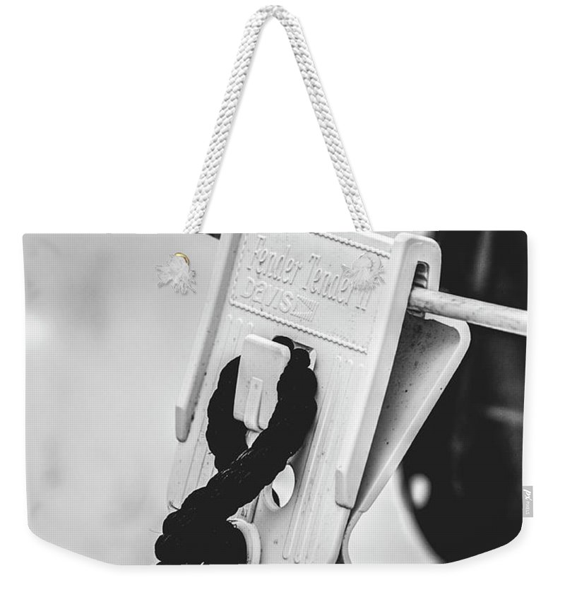 Abstract Weekender Tote Bag featuring the photograph Buoy Bound by Dorothy Hilde