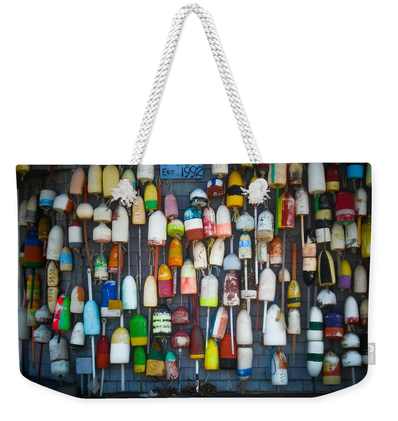 Travel Weekender Tote Bag featuring the photograph Buoys, Martha's Vineyard by Saundra Roberts