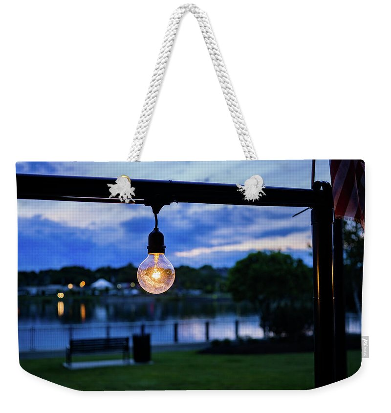 Light Weekender Tote Bag featuring the photograph Burn Brighter by John Gagnon