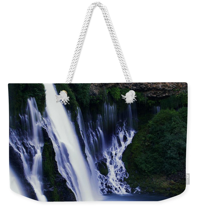 River Weekender Tote Bag featuring the photograph Burney Blues by Peter Piatt