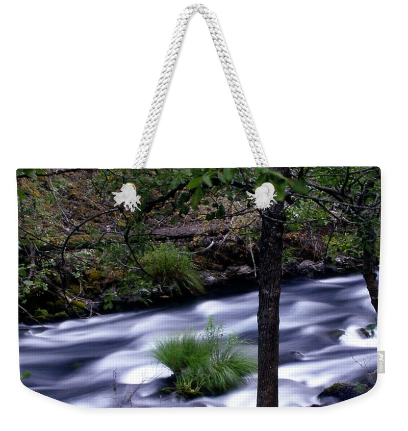 River Weekender Tote Bag featuring the photograph Burney Creek by Peter Piatt
