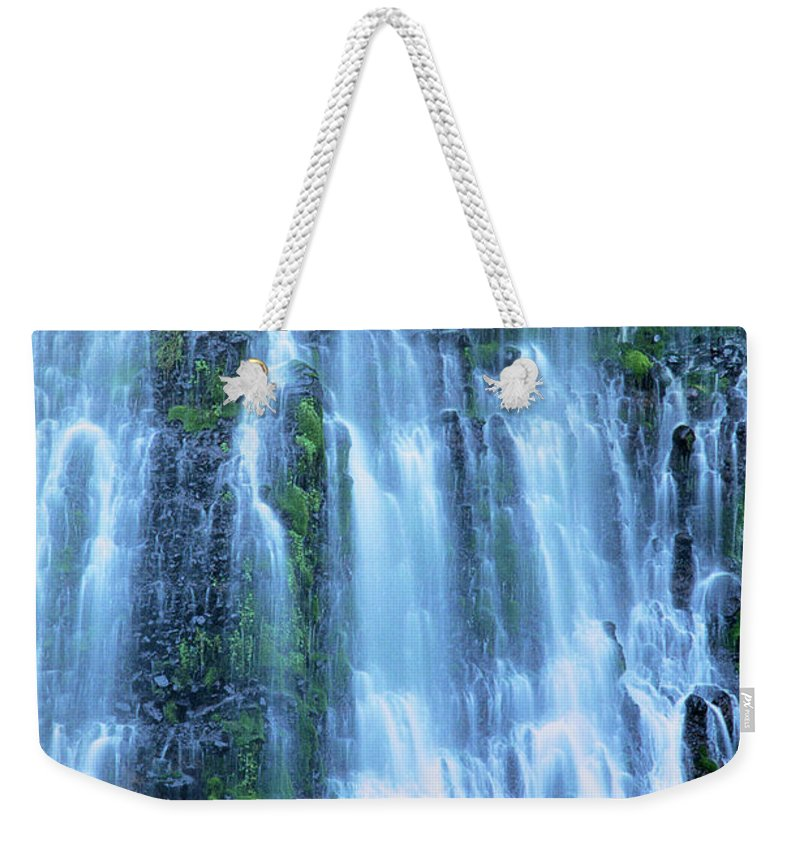 Burney Falls Weekender Tote Bag featuring the photograph Burney Falls Mist Mcarthur Burney Sp California by Dave Welling