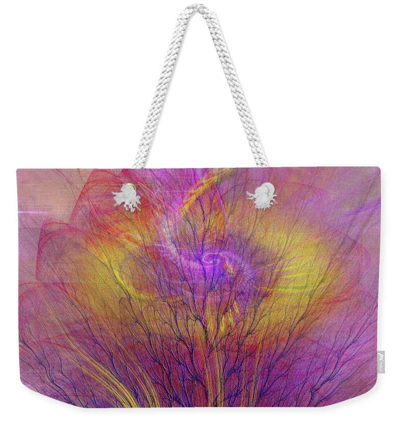 Burning Bush Weekender Tote Bag featuring the digital art Burning Bush by John Beck