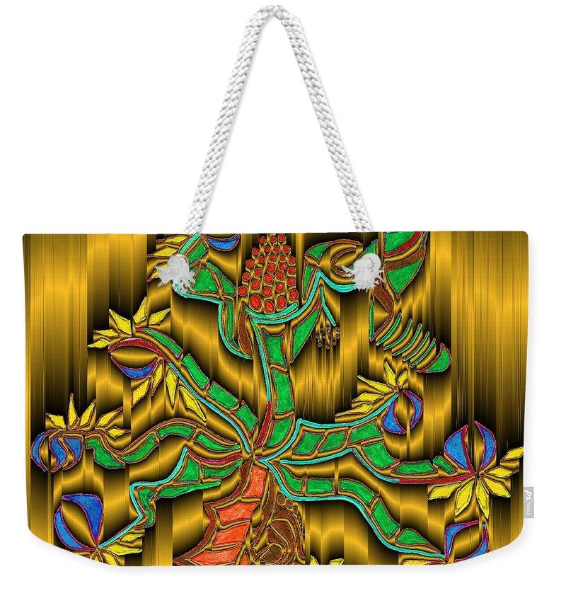 Digital Weekender Tote Bag featuring the digital art Burning Bush by Mark Sellers