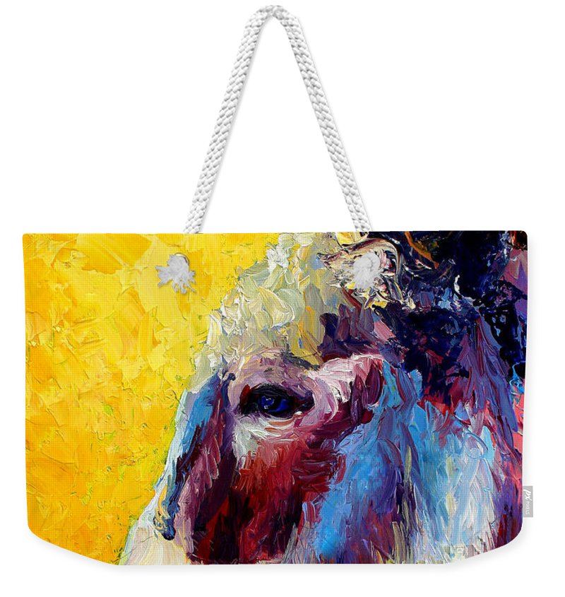Western Weekender Tote Bag featuring the painting Burro Study II by Marion Rose