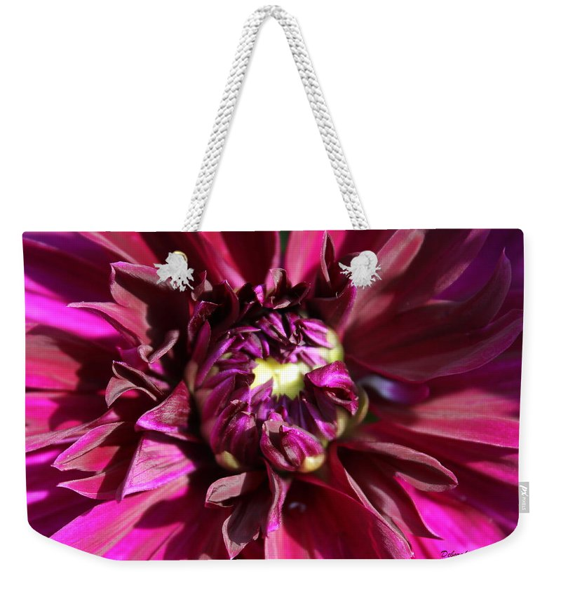 Flower Weekender Tote Bag featuring the photograph Bursting by Deborah Crew-Johnson