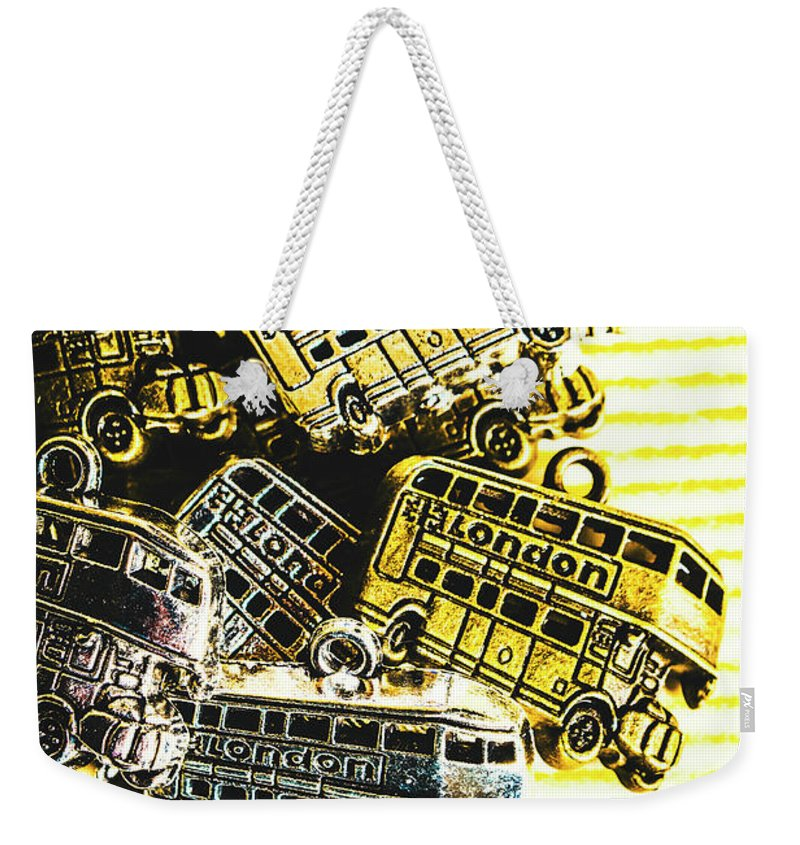 Still Life Weekender Tote Bag featuring the photograph Bus Lines by Jorgo Photography - Wall Art Gallery