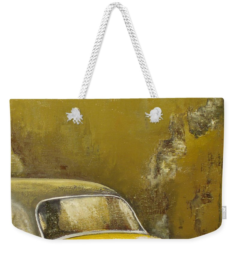 Havana Weekender Tote Bag featuring the painting Buscando La Sombra by Tomas Castano