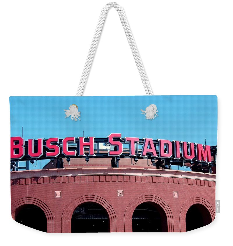 Photography Weekender Tote Bag featuring the photograph Busch Stadium Ball Park by J R Seymour