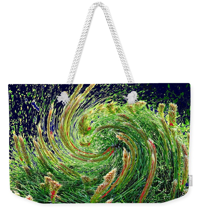 Pine Weekender Tote Bag featuring the photograph Bush In Transition by Ian MacDonald