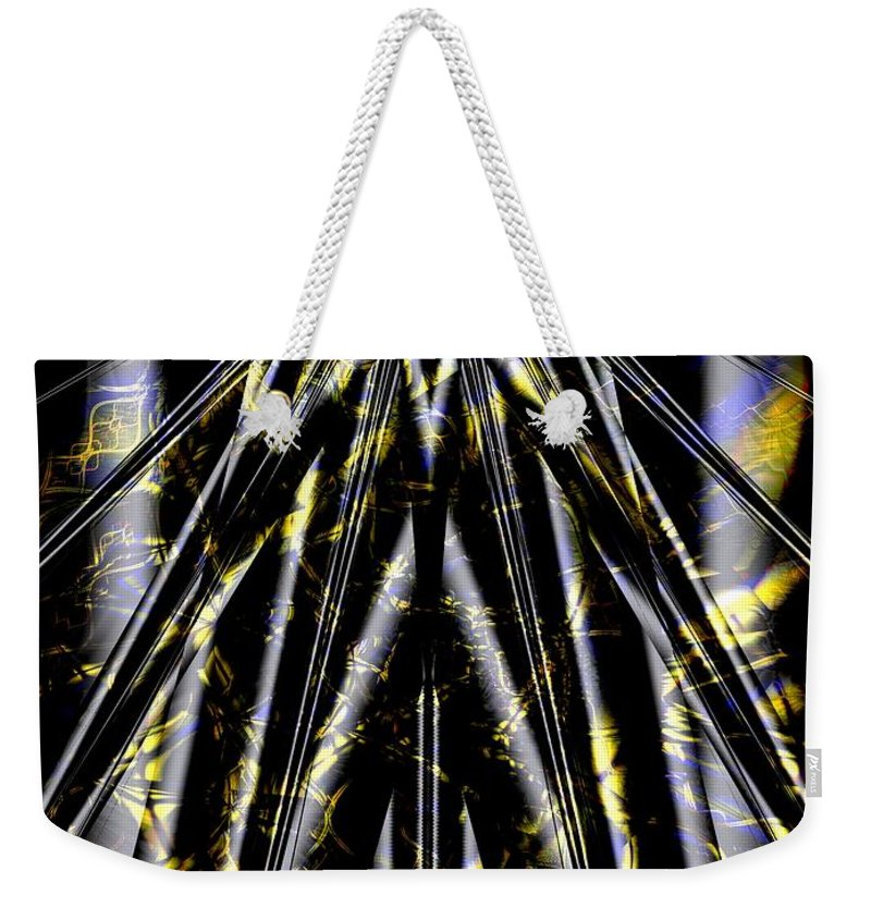 Bushi Weekender Tote Bag featuring the digital art Bushi Spirit by Ron Bissett