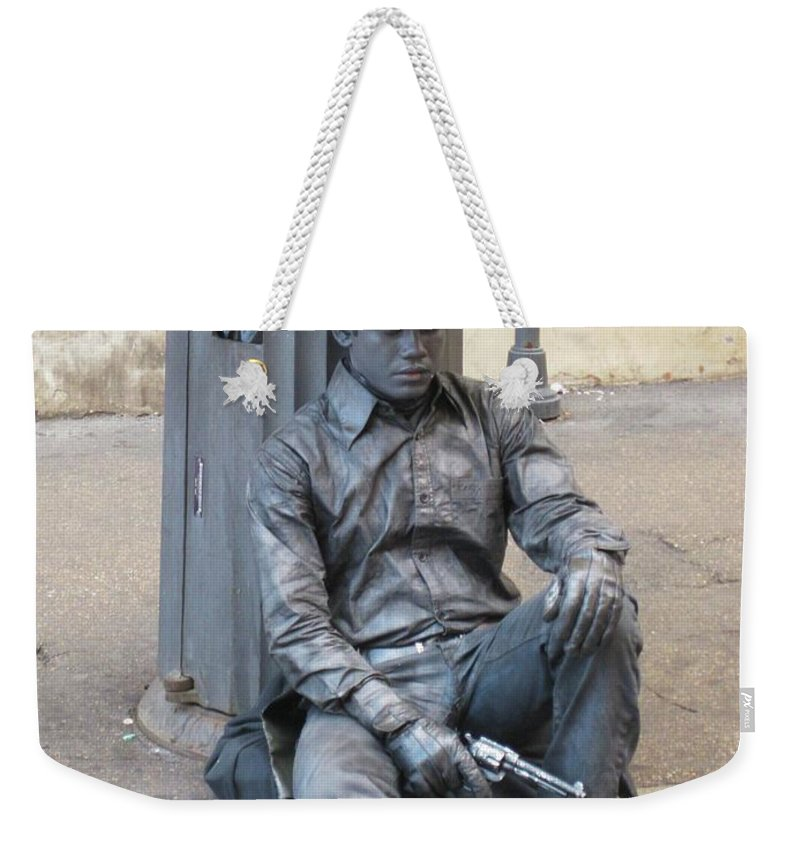 Busker Weekender Tote Bag featuring the photograph Busker In Rome by John Malone