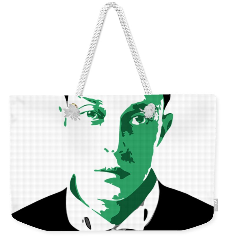 Buster Keaton Weekender Tote Bag featuring the digital art Buster Keaton by DB Artist