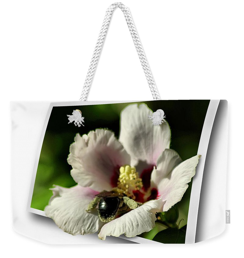 2d Weekender Tote Bag featuring the photograph Busy Bee by Brian Wallace